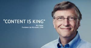COntent is King by Bill Gates - Gilberto Pereira